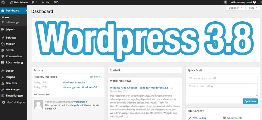 WordPress 3.8: Neues Design #8