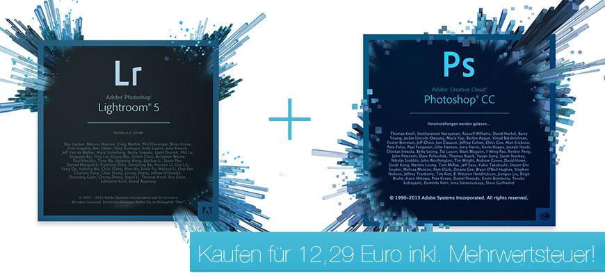 Photoshop CC & Lightroom 5  für 12 Euro im Monat **Nur für kurze Zeit!**