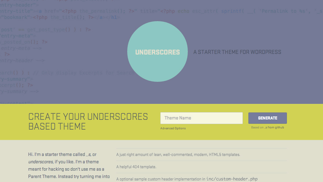Webtipp #4: _s (underscores) WordPress-Starter-Theme